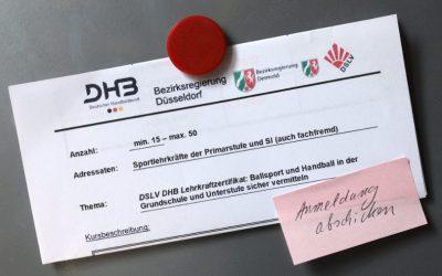 DSLV DHB Lehrkraftzertifikat: Ballsport und Handball in der Grundschule und Unterstufe sicher vermitteln
